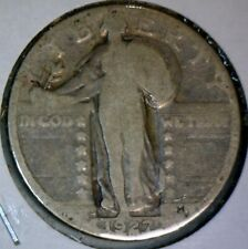 1927s SEMI KEY Standing Liberty Quarter SILVER Coin FULL BOLD DT&MM LOT #50   NR