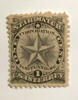 "1862 STAMPS US SCOTT RO172a ""Star Match"" 1 CENT BLACK RARE"