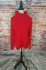 Jones New York Collection Red Oversize Turtleneck CASHMERE Pullover Sweater Sz L