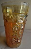Vintage Carnival Glass Tumblers Muscadine Jain Glass Works India Rare Col  #60 F