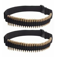 2pcs 25Round Rifle Bullet Cartridge Bandolier Ammo Belt for 308 cal. 30-30 30-06