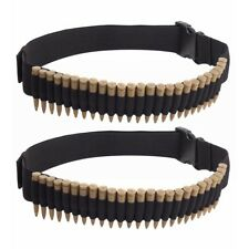 2X 25 Round Rifle Bullet Cartridge Bandolier Ammo Belt for 308 cal. 30-30 Black