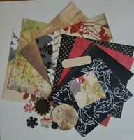 16 piece 6x6 Card Making Kit Bundle Scarlet Letter Junk Journalling