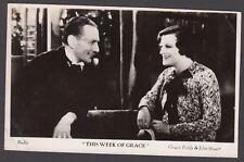 Postcard Film Weekly vintage movie still Gracie Fields This Week of Grace #3 RP