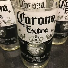 Recycled Corona bottle glasses x 2 tumbler size. Parties, Bar, Collectors in UK