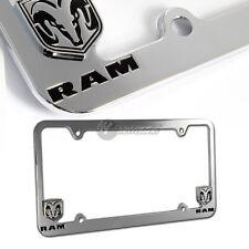 Dodge RAM Chrome Metal License Plate Frame Officially Licensed