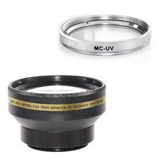 30mm 2.2x Telephoto Lens + UV Filter for Sony DCR-HC36 HC90 DCR-SR47 camcorder
