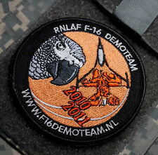 KANDAHAR WHACKER CLUB PRO-TEAM NATO TIGER RNLAF F-16 DEMO TEAM VeIcrọ INSIGNIA