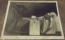 Ancienne Gravure de Presse MARAT Mourant, dans sa baignoire