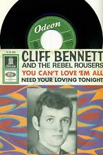 "Cliff Bennett - You Can'T Love 'em all / Need Your Loving Tonight 7 "" Single"