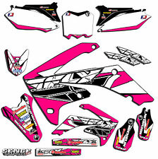 2009 2010 2011 2012 CRF 450R GRAPHICS KIT CRF450R 450 R DECO DECALS PINK