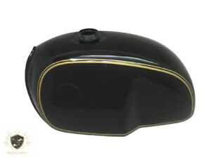 BMW R100 RT RS R90 R80 R75 BLACK GOLDEN PIN LINE PAINTED STEEL TANK Fit For