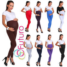 Maternity Cotton Leggings Thick Heavy and Classic Full Ankle Length PREGNANCY