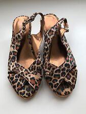 Silhouettes Womens Wedges Heels, Size 7, Leopard Peeptoe