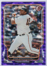 PABLO SANDOVAL 2014 BOWMAN PURPLE CRACKED ICE #/10 3/10 GREAT LOOKING CARD