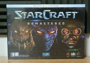 Starcraft Remastered New in Seal First Edition PC Game Korea