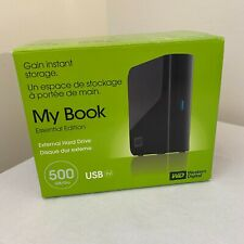 WD Western Digital 500GB My Book Essential Edition USB 2.0 External Hard Drive