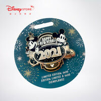 Disney Store 2021 Happy New year Pin mickey minnie mouse LE 4600 Limited edition