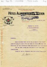 Dépt 84 - Bédarrides Usine de la Verne - Petite Entête Pâtes Alimentaires - 1919