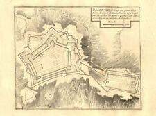"""belle-garde"". fort de bellegarde plan, le perthus, france. de fer carte de 1705"
