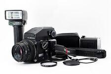 Zanza Bronica ETR w/ ZENZANON MC F/2.8 75mm Lens, AE prism finder, flash [992]