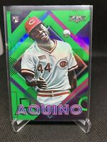 2020 Topps Fire Rookie Card Aristides Aquino 98 RC Green Parallel /199 Reds