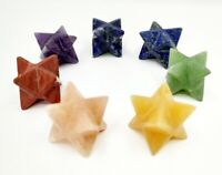 One (1) Set of Merkaba Chakra Set Gemstone Merkaba Stars