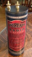 """Antique Refillable #6 Eveready """"A"""" Dry Cell Battery Telephone, Radio, Lantern"""