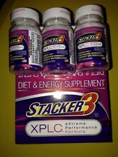 Stacker 3 XPLC 2ct 40 Pills Weight Loss & Energy Supplement New Sealed Exp 12/17