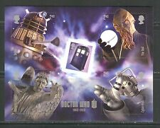 DR. WHO MOVIE SCENES ON GREAT BRITAIN UNITED KINGDOM 2013 SELF ADHESIVE S/S, MNH