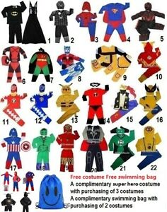 Super hero costume Dress up 1-10 yrs Buy 3 get 1 for FREE