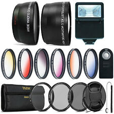 58mm Fisheye Telephoto & Wide Angle Lens + Color Filter Accessory Kit for CANON