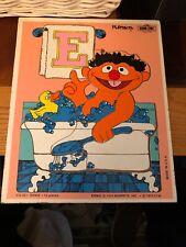 Vintage Ernie Puzzle By Playskool 12 Piece Jigsaw Puzzle #315-22 Sesame Street