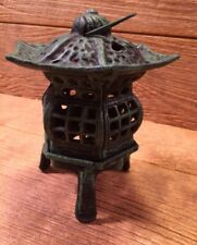 "Footed Japanese Pagoda Lantern 7"" Tall 5 1/2"" wide Tea Garden Decor 0170K-14019"