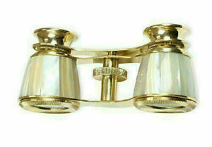 DEEP SEA Beautifull handcrafted brass binocular with genuime mother of pearl