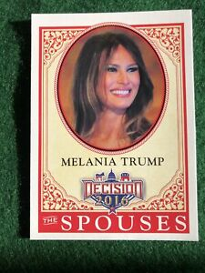 Melania Trump Leaf Decision 2016 (spouses) #63 base card