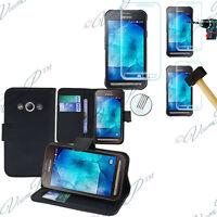 Housse Etui Portefeuille Samsung Galaxy Xcover 3 SM-G388F + 1 Film Verre Trempe