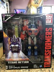 Transformers Generations Titan Return Diac & Optimus Prime Hasbro