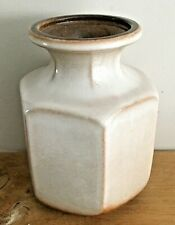 Vintage Scheurich Keramik West German glazed hexagonal vase 297-16