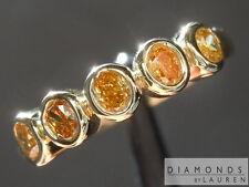 .44ctw Natural Orange Oval Five Stone Diamond Ring R7419 Diamonds by Lauren