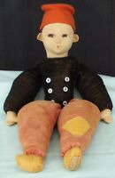 Norah Wellings Cloth Boy Doll  Vintage Felt Toy England  larger size