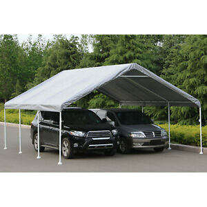 Flyline Portable Carport Garage Shelter Canopy Double Size 18x20ft