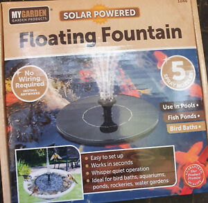 Solar powered 5 nozzles floating fountain for pools,fish ponds,biard baths