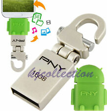 PNY Mini-HOOK + OTG Robot Adapter 16GB 16G USB Flash Metal Pen Drive Andriod