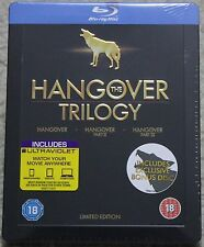 The Hangover Trilogy ~UK Blu-Ray Steelbook~ Cooper/Helms/Galifianakis *NEW* OOP