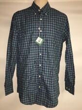 Bobby Jones Button Front Shirt Mens Small Summer Navy Plaid BJ540007 NWT