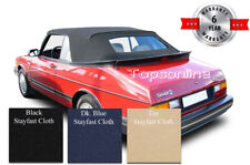 SAAB 900 Convertible Soft Top W/Heated Glass & Inst. Video Stayfast Cloth 86-94