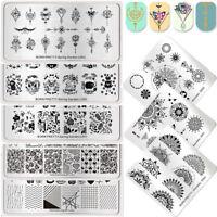 BORN PRETTY Nail Art Stamping Plates Flower Mandala Valentine's Day Stencils DIY