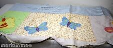"""WINDOW VALANCE with APPLIQUED LADYBUGS BUTTERFLIES Shabby Chic Country 72""""x15"""""""