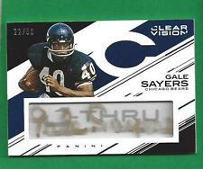 2015 Clear Vision C Thru Auto GALE SAYERS /50 Chicago Bears